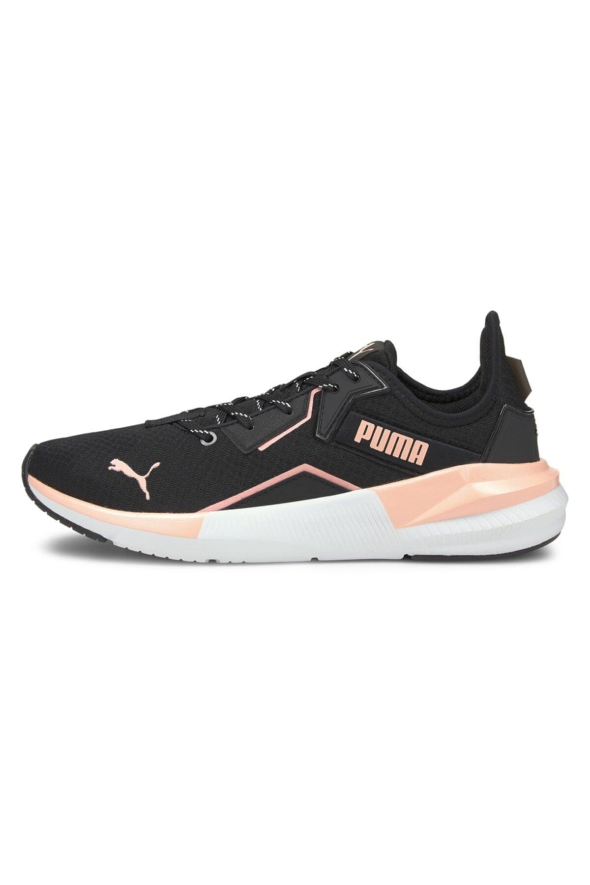 Puma Platinum Metallic Siyah Pembe Garnili Kadın Ayakkabı