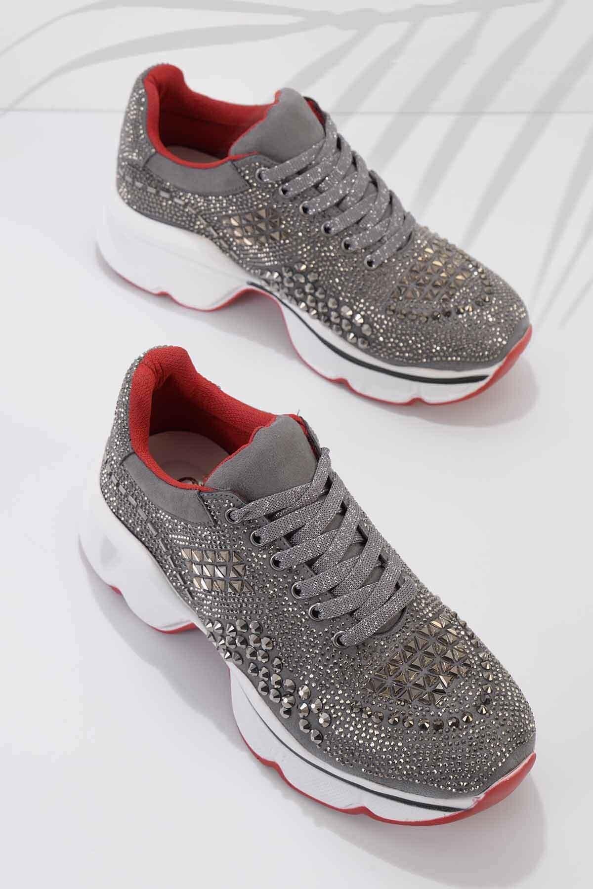 Füme Süet Kadın Sneaker K01868302665