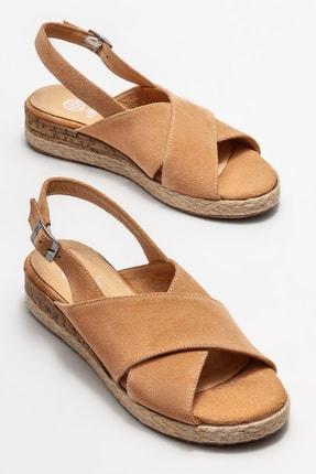Elle Kadın Naturel Deri Dolgu Topuklu Sandalet 1