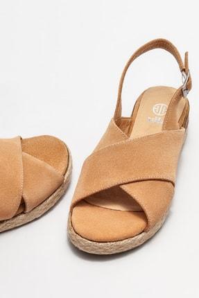 Elle Kadın Naturel Deri Dolgu Topuklu Sandalet 2