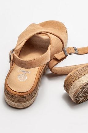 Elle Kadın Naturel Deri Dolgu Topuklu Sandalet 3