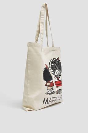 Pull & Bear Mafalda Görselli Tote Çanta 0