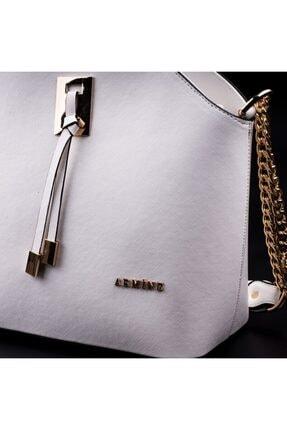 Armine Kadın Beyaz Zincir Askılı Çanta 2