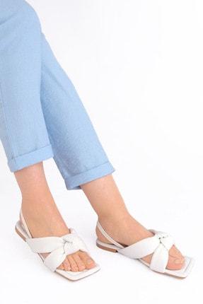 Marjin Kadın Sandalet Helginbeyaz 1