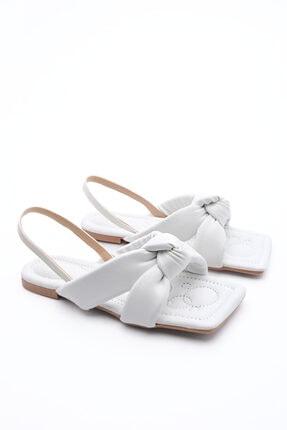 Marjin Kadın Sandalet Helginbeyaz 4
