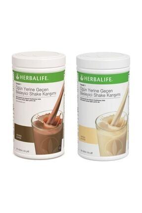 Herbalife Formül 1 Öğün Yerine Geçen Besleyici Shake Karışımı Çikolata + Vanilya 550 gr 0