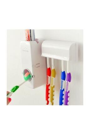 Zzn Otomatik Macun Sıkacağı Diş Fırçalık Tutucu Askı Diş Macunluk Set 3