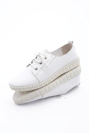 Marjin Kadın Hakiki Deri Comfort Ayakkabı Resabeyaz 0