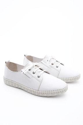 Marjin Kadın Hakiki Deri Comfort Ayakkabı Resabeyaz 2