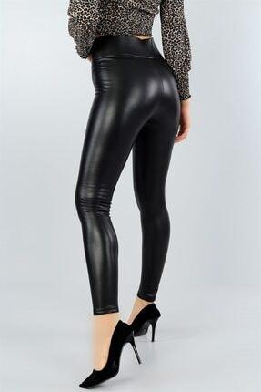 Md1 Collection Kadın Siyah Suni Deri Pantolon Siyah Suni Deri Tayt 1