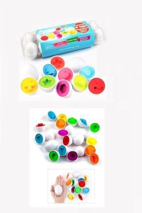 AyasEğiticiOyuncak Circle Toys Geometrik Yumurta 12' Li Ve Kayıp Çoraplar Eşleme Kartları 2 Li Set 1