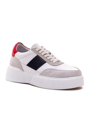 GRADA Kadın Beyaz Hakiki Deri Tommy Bağcıklı Sneaker Ayakkabı 3