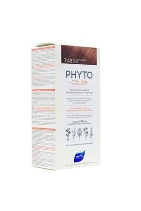 Phyto Color 7.43 - Kumral Bakır Dore (Bitkisel Saç Boyası) - 0