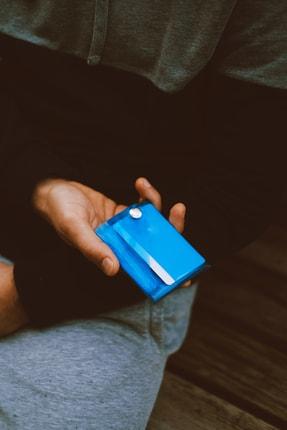 Badger Collection Katlanır Cüzdan - Unisex Kartlanır Mavi 1