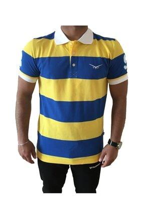 Picture of Erkek Sarı Lacivert Fenerbahçe Polo Yaka Lisanslı T-shirt