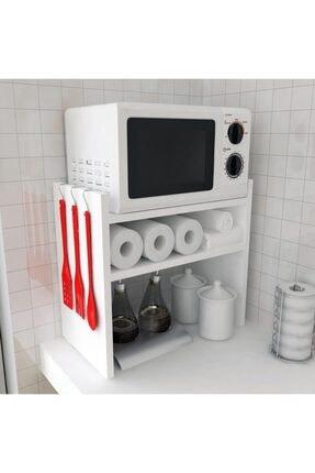 Bayz Tasarım Mutfak Tezgah Üstü Mikrodalga Fırın Raf Dolap Düzenleyici Organizatör Toplayıcı 1