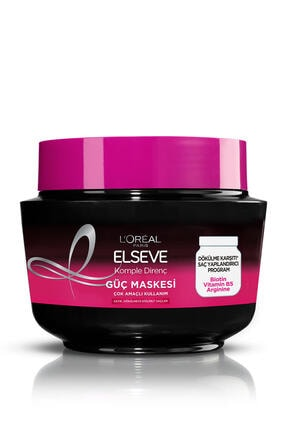 Elseve L'oréal Paris Komple Direnç Dökülme Karşıtı Güç Maskesi 300 ml 1
