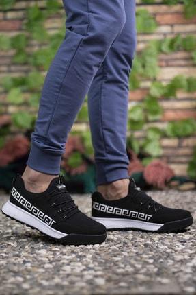 Riccon Siyah Beyaz Unisex Sneaker 00125052 2