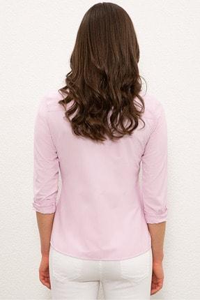 US Polo Assn Pembe Kadın Gömlek G082SZ004.000.1193803 1