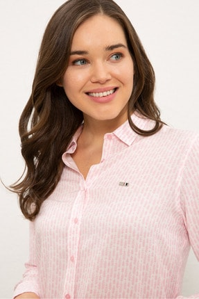 US Polo Assn Pembe Kadın Gömlek G082SZ004.000.1268266 1