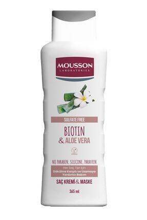 Mousson Biotin ve Aloe Vera İçeren Dökülme Karşıtı ve Uzamaya Yardımcı Saç Bakım Krem ve Maskesi 365 ml 3