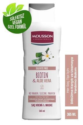 Mousson Biotin ve Aloe Vera İçeren Dökülme Karşıtı ve Uzamaya Yardımcı Saç Bakım Krem ve Maskesi 365 ml 2