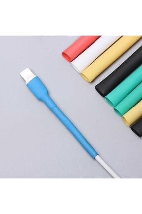 RAVANELLI Iphone Şarj Kablo Koruyucu Renkli 12 Adet Isıyla Daralan Makaron Orijinal Apple Lightning 1