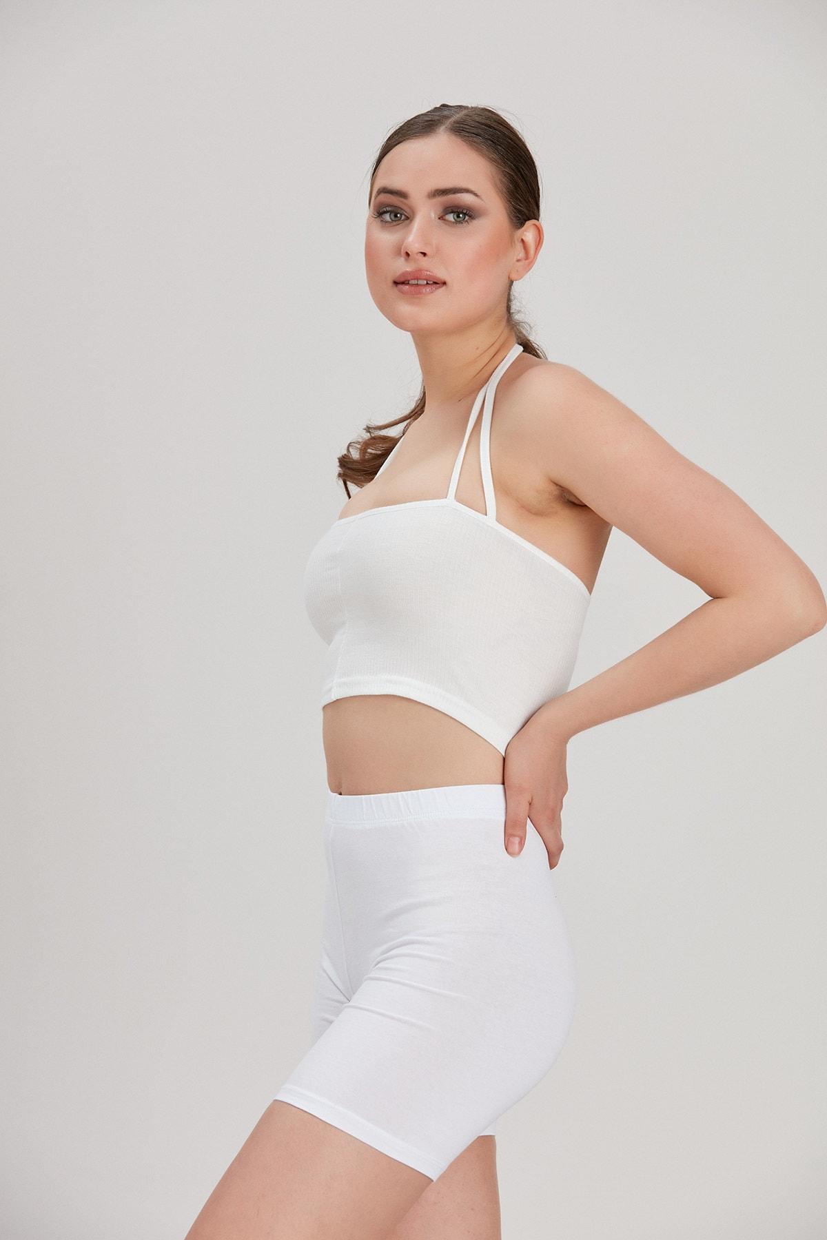 Y-London Kadın Beyaz Kısa Tayt YL-PN99810 3