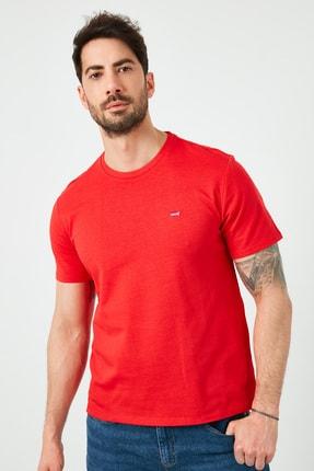 Levi's Erkek Kırmızı Regular Fit Bisiklet Yaka T-Shirt 1