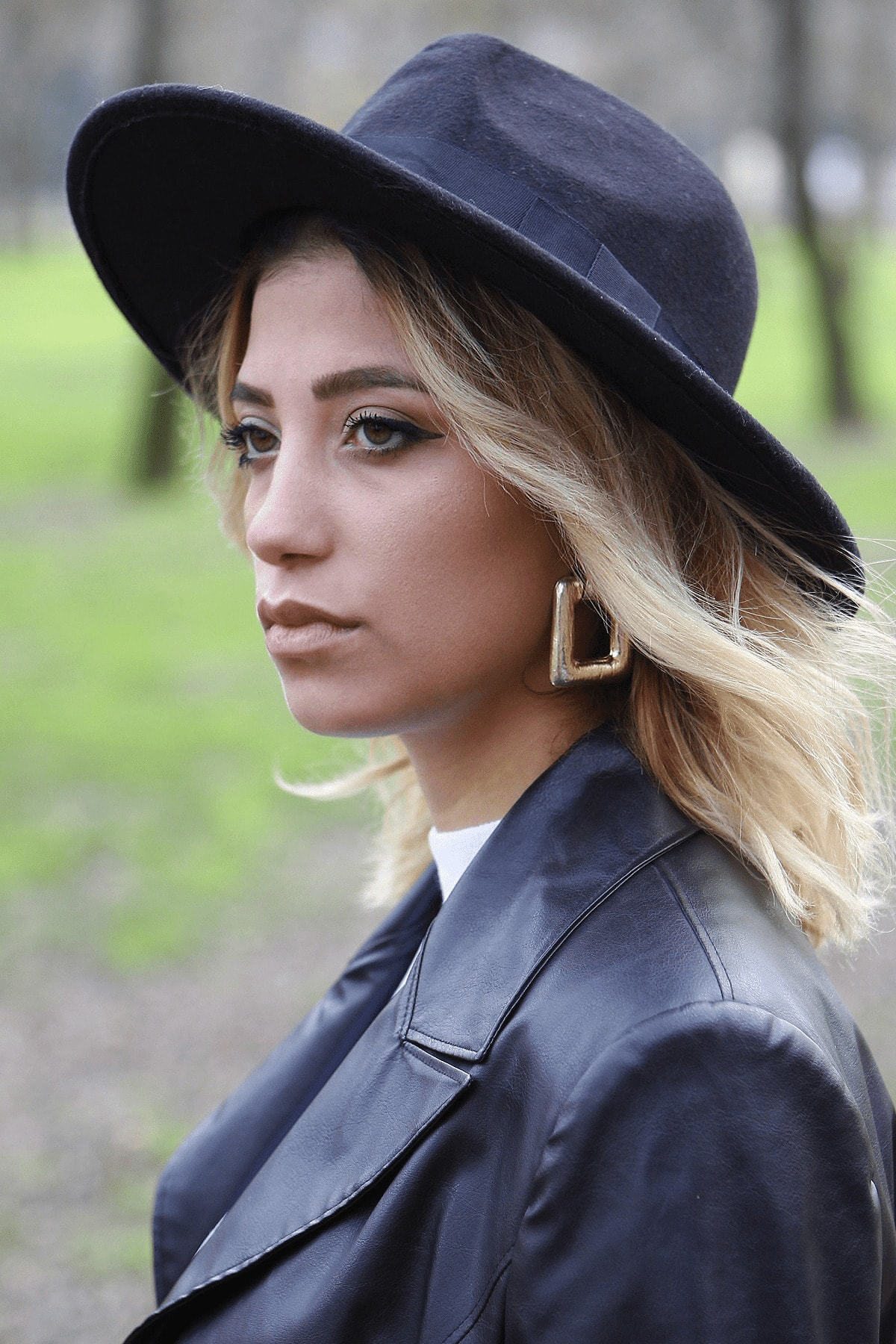 - Kadın Kaşe Fötr Şapka 7173 Siyah