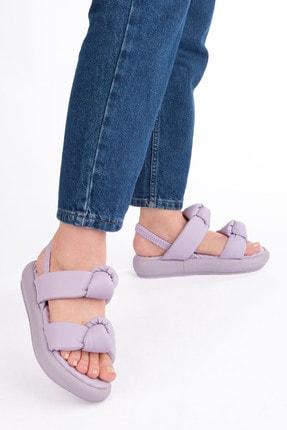 Marjin Kadın Lila Horev Dolgu Topuk Sandalet 1