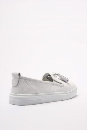 Elle Hakiki Deri Thayne Beyaz Kadın  Sneaker 20YEYB-24 3