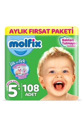 Molfix Bebek Bezi 5+ Beden Junior Plus Aylık Fırsat Paketi 108 Adet 0