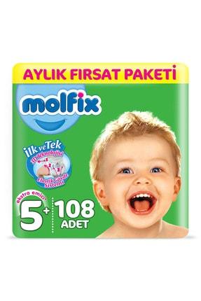 Molfix Bebek Bezi 5+ Beden Junior Plus Aylık Fırsat Paketi 108 Adet 1