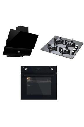Luxell Black Still Button 3'lü Ankastre Set 0