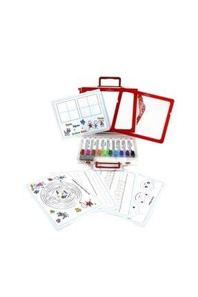 Faber Castell Çantalı Beyaz Tahta Kalemi 10 Renk + Tak-çıkar Tahta 1