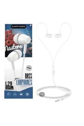 PP Teknoloji L29 Mikrofonlu Kulakiçi Kulaklık Beyaz 0