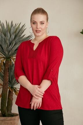 تصویر از بلوز سایز بزرگ زنانه کد 6538494984521