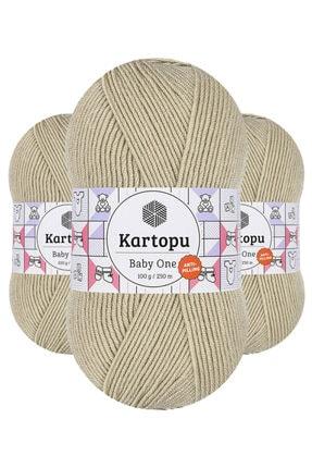 Kartopu Baby One K861 (vizon) Anti-pilling El Örgü Ipi/yünü 1 Adet 0