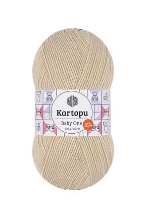 Kartopu Baby One K855 (bej) Anti-pilling El Örgü Ipi/yünü 1 Adet 1