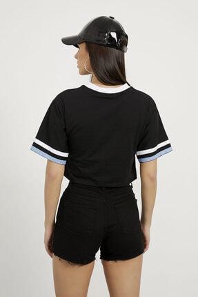 Arma Life Kadın Siyah Los Angeles Baskılı Crop T-shirt 4