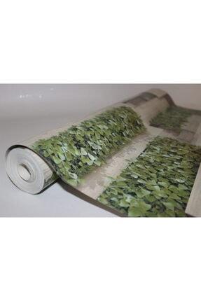 Zümrüt Çiçekli Taş Desen Duvar Kağıdı 5,33 M² 3