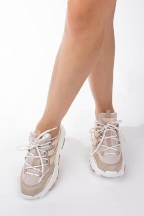 NAVYSIDE Kadın Yüksek Tabanlı Spor Ayakkabı Sneaker Yürüyüş Ayakkabısı 3