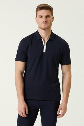 Network Erkek Slim Fit Lacivert Polo Yaka T-shirt 1078321 0