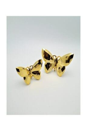 irayhomedecor Dekoratif Kelebek Biblo 2'li – Gold 0