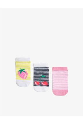 Koton Kiz Çocuk Meyveli Çorap Seti Pamuklu 0
