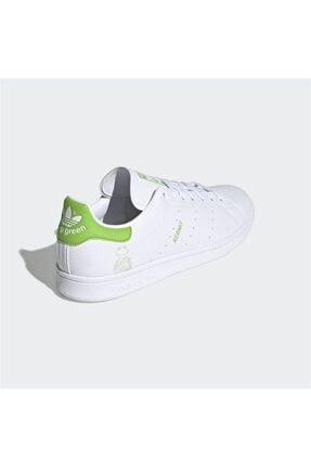 adidas Erkek Beyaz Stan Smith Günlük Spor Ayakkabı 3