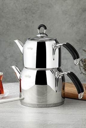 Nehir 29006 Maxi Modern Çelik Çaydanlık Takımı 0
