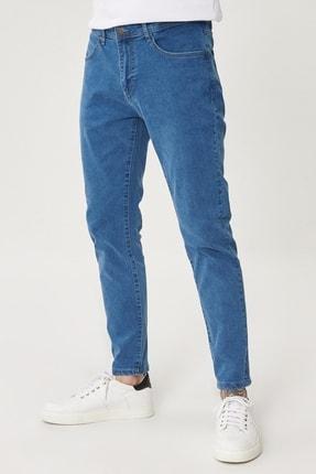 Altınyıldız Classics Erkek Mavi Slim Fit Dar Kesim Denim Esnek Jean Kot Pantolon 0