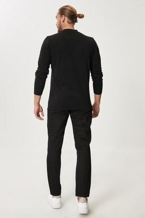 Altınyıldız Classics Erkek Siyah Slim Fit Dar Kesim Denim Jean Kot Pantolon 4